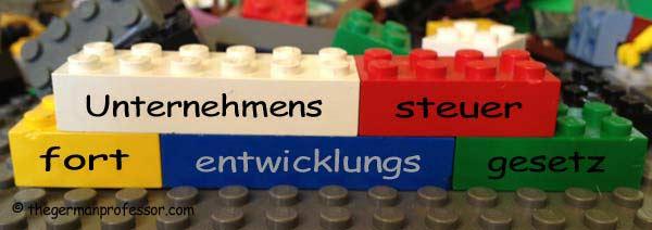 Deutsche Wörter lassen sich wie Lego-Bausteine zusammenstellen