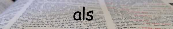 Word of the Week: German als