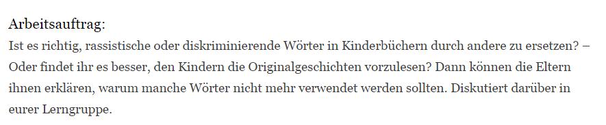 """Teaching Deutsche Welle Top-Thema """"Kinderbuecher ohne Rassismus"""" - Arbeitsauftrag"""