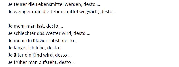 """Teaching Deutsche Welle Top-Thema """"Lebensmittel im Müll"""" je-desto"""