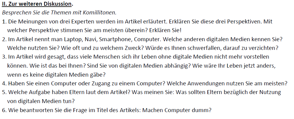 "Teaching Deutsche Welle Top-Thema ""Machen Computer dumm?""-Diskussion"