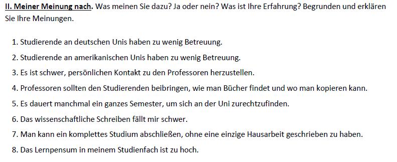 """Teaching Deutsche Welle Top-Thema """"Studieren in Deutschland""""- Ansichten"""