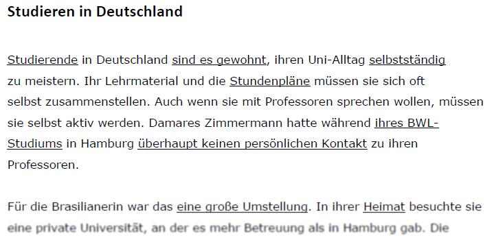 """Teaching Deutsche Welle Top-Thema """"Studieren in Deutschland""""- Vokabeln"""