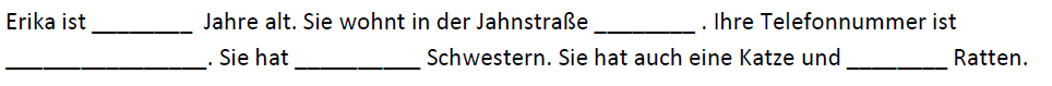 German numbers - Dictation