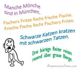 Zungenbrecher - German tongue twisters